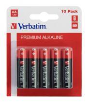 Batterie - VERBATIM PILHAS ALCALINAS AA LR6 PACK 10 UNID