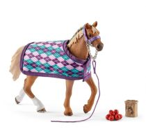 Revenda Figuras Animais - Schleich Horse Club        42360 English Thoroghbred + blanket