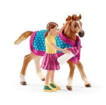 Revenda Figuras Animais - Schleich Horse Club 42361 Foal + blanket