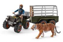 Figurini Animali - Schleich Wild Life      42351 Quad Bike + Trailer a. Ranger
