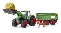 Figurini Animali - Schleich Farm World        42379 Tractor + Trailer