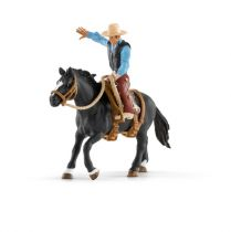Revenda Figuras Animais - Schleich Farm World 41416 Saddle Bronc Riding + Cowboy