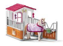 Revenda Figuras Animais - Schleich Horse Club 42368 Horse Stall + Lusitano Mare