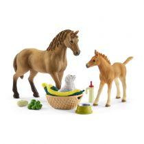 Revenda Figuras Animais - Schleich Horse Club 42432 Sarahs Cub Care Kit