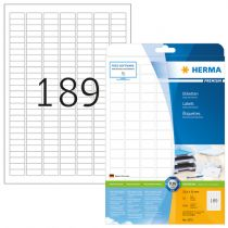 Herma Labels       25,4x10 25 Sheets DIN A4 4725 pcs. 4333