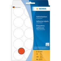 Revenda Papel - Herma Adhesive Labels  red 32mm 32 Sheets 111x170 480 pcs. 2272