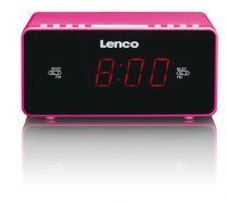 Revenda Relógios/Despertadores - Despertador Lenco CR-510 rosa