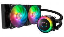 Coolers - Cooler Master MasterLiquid ML240R RGB, low profile dual cham
