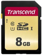 Secure Digital SD - Transcend SDHC 500S          8GB Class 10 UHS-I U1