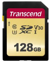 Secure Digital SD - Transcend SDXC 500S        128GB Class 10 UHS-I U3 V30