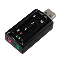 Schede suono - LogiLink USB Soundcard with Virtual 7.1 Soundeffects
