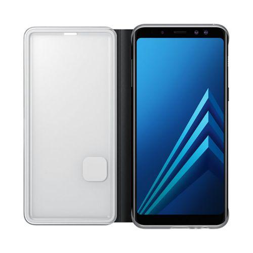 Capa Original Samsung Galaxy A8 2018 Neon Flip Cover Preta