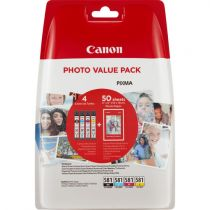 Cartucce stampanti Canon - Canon CLI-581 BK/C/M/Y Photo Value Pack Blistered W/O Securi