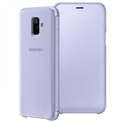 Capa Samsung Flip Wallet para Galaxy A6 2018 purple