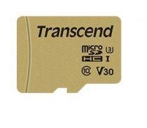 Revenda Micro SD / TransFlash - Transcend microSDXC 500S 64GB Class 10 UHS-I U3 V30 + Adaptador Cartão