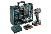 Avvitatori - Metabo BS 18 Li Set + 2x Batteria + Valigia Avvitatore