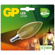 Lampade LED - GP Lighting LED Candle Gold E14 2W (11W), Filament