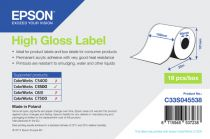 Carta - EPSON HIGH GLOSS LABEL 102mmX33m TM-C3500