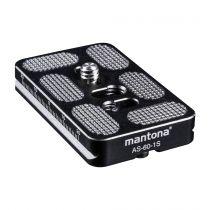 Revenda Acessorios Tripés - mantona AS-60-1S Quick Release Plate
