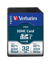 Secure Digital SD - Verbatim SDHC Card Pro 32GB Class 10 UHS-I