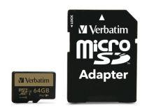 Micro SD / TransFlash - Verbatim microSDXC Pro+     64GB Class 10 UHS-I incl Adapter