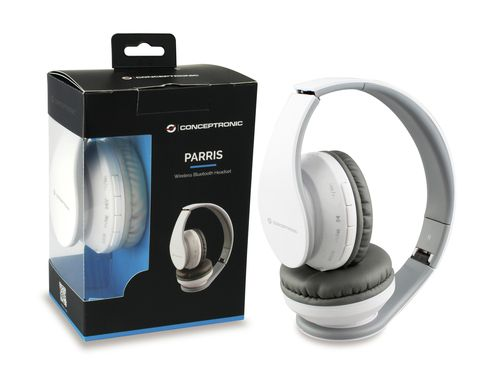 Conceptronic Parris Wireless Bluetooth Auscultadores - Branco