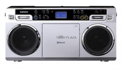 Comprar  - Radio CD Lenco SCD-580SI prata - bluetooth 10W LCD jack 3.5mm