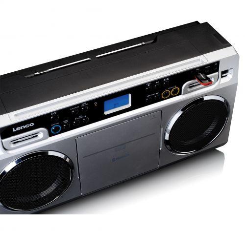 Radio CD Lenco SCD-580SI prata - bluetooth 10W LCD jack 3.5mm