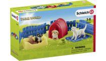 Revenda Figuras Animais - Schleich Farm World 42480 Puppy Pen