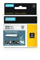 Revenda Acessórios POS - Dymo Rhino Nylonband 18489, Fita / Tape | 19 mm, Preto on Branco