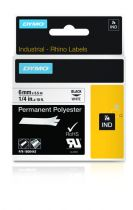 Revenda Acessórios POS - Dymo Rhino Polyband 1805442, Fita / Tape | 6 mm, Preto on Branco