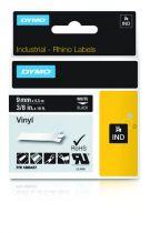 Revenda Acessórios POS - Dymo Rhino Vinylband 1805437, Fita / Tape | 9 mm, Branco on black