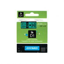 Revenda Acessórios POS - Dymo D1-Label Cassette 40919, Fita / Tape | 9 mm, Preto on green