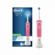 Revenda Higiene Dentária - ESCOVA DENTES Braun Oral-B Vitality 100 CrossAction pink/white | 1 Sta