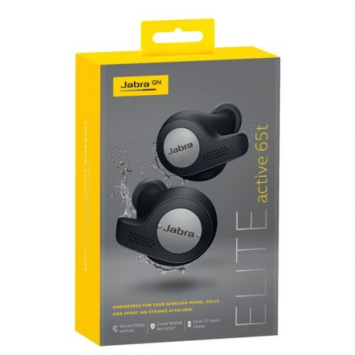Auriculares Jabra Elite Active 65t True Wireless titanium Preto