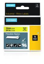 Accessori Stampanti - Dymo Rhino Flexible Nylon Tape 19 mm x 3,5 m Nero per yellow