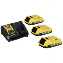 Revenda Baterias Ferramentas - DeWalt DCB115D3-QW Bateria-Kit (3 x 18 V / 2 Ah)
