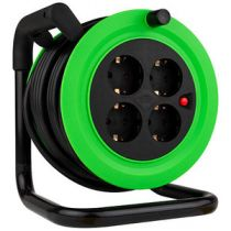 Adattatori rete - REV MiniCabletrommel 4fach 15m verde Nero