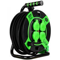 Adattatori rete - REV Cabletrommel Kunststoff 25m IP 44 4-fach sw gn
