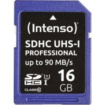 Revenda Secure Digital SD - Intenso SDHC Cartão 16GB Class 10 UHS-I Professional Cartão Memória