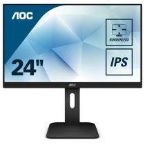 Schermi Altre Marche - AOC Schermo LED IPS 24´´ (23.8) 16:9 FHD VGA DVI HDMI DP USB