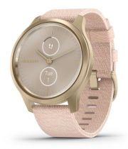 Revenda GPS Corrida / Fitness - Relógio desporto Garmin vivomove Style branco gold/rosa