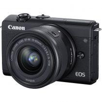 Revenda Camaras Digitais Canon - Câmara digital Canon EOS M200 Kit Preto + EF-M 15-45 IS STM