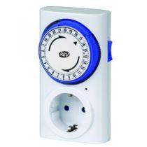 Revenda Adaptadores de Rede - Tomada com Temporizador Mecânico REV timer Premium Branco