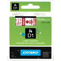 Revenda Consumiveis POS - Dymo D1-Fita / Tape S0720520 red | colorless