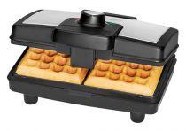 Macchine per waffel - Macchina per waffel Clatronic WA3606 Nero/inox | 800W | Grau