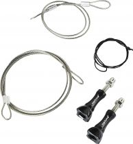 Altri Accessori Videocamara Action - mantona safety line Set Stainless Steel 40cm + 100cm