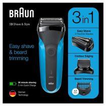Revenda Máquinas Barbear - Maquina Barbear Braun Series 3 310 BT black/blue