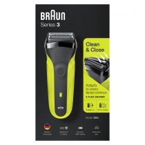 Rasoi - Maquina Barbear Braun Series 3 300s black/green
