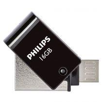 OTG Sticks - Philips 2 in 1 Nero        16GB OTG microUSB + USB 2.0